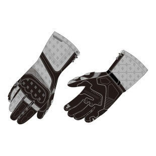 guantes fieldsheer wind tour mens largo negro xs plata