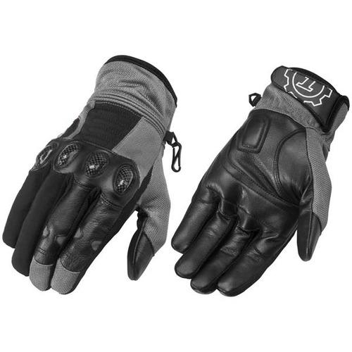 guantes firstgear mesh-tex dk gris/negro lg