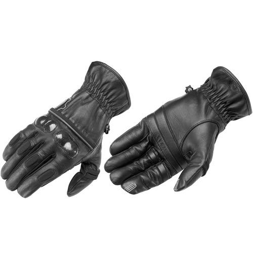 guantes firstgear route 36 p/hombre cuero negro xl