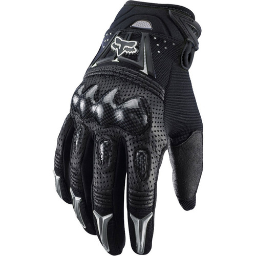 guantes fox bomber moto - gris/negro