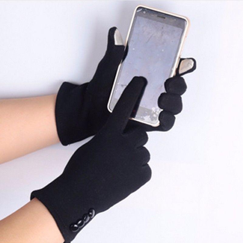 guantes frio elegantes forrados dama mujer táctil negro. Cargando zoom. 96fe9be6257