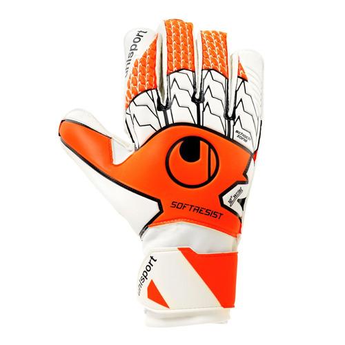 guantes futbol soft resist naranjo - uhlsport