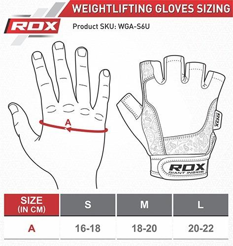 guantes gimnasio fitness - rdx - licra y nylon - talla m