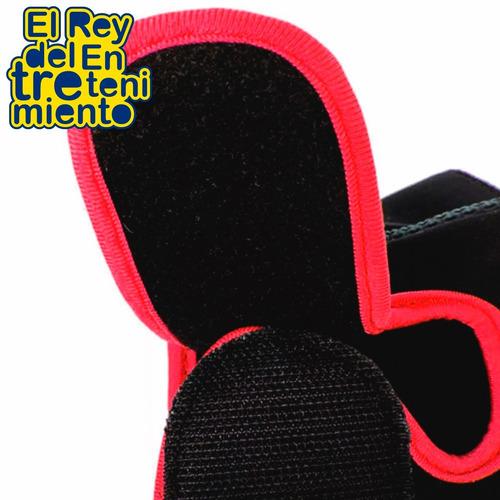 guantes gimnasio p/pesas gym pilates fitness neoprene el rey