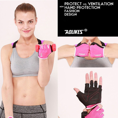 guantes gym mujer hombre pesas crossfit gimnasio ciclismo
