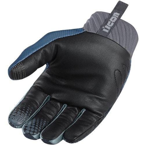 guantes hombre arakis raiden, ícono, gris pizarra negro, 3xl