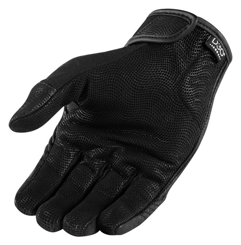 guantes icon forestall hombre negro 3xl