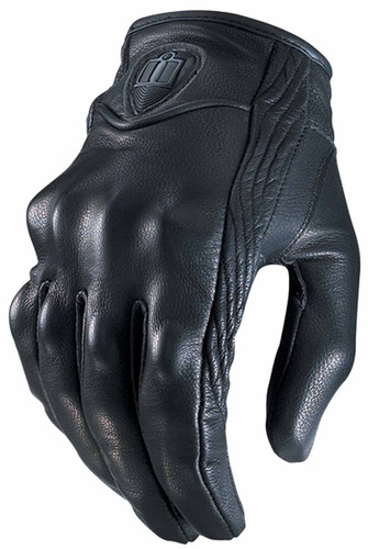 guantes icon pursuit touchscreen para hombre negros 3xl