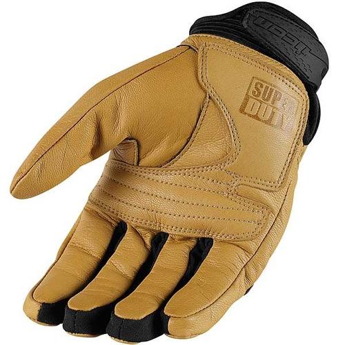 guantes icon superduty 2 de cuero bronceados lg