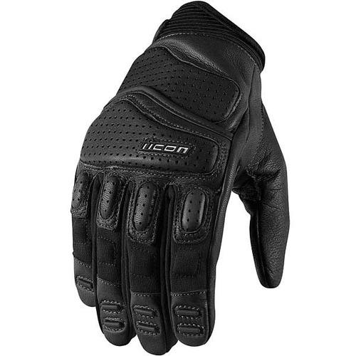 guantes icon superduty 2 de cuero negro md