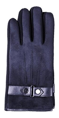 guantes imitación de gamuza palma 21 cm táctil azul