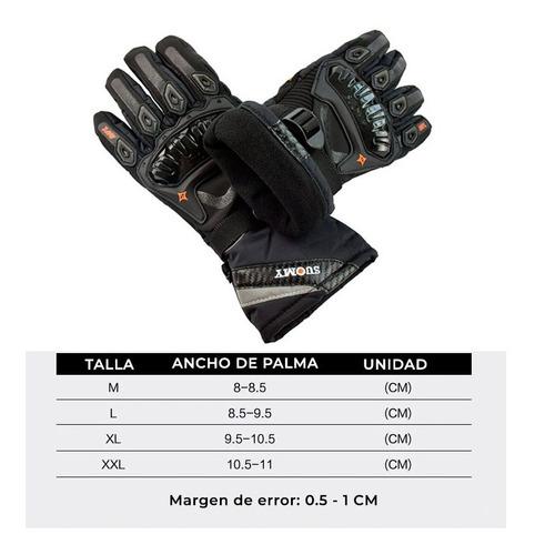 guantes impermeables invierno térmico táctil suomy