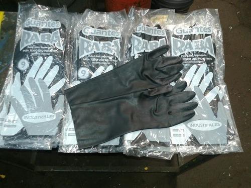 guantes industriales de latex importado 30cm. x 20 pares.