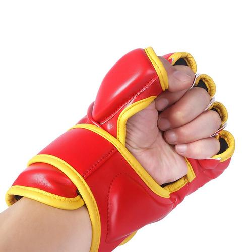 guantes kickboxing hombre cheerwing dragon rojo 10oz