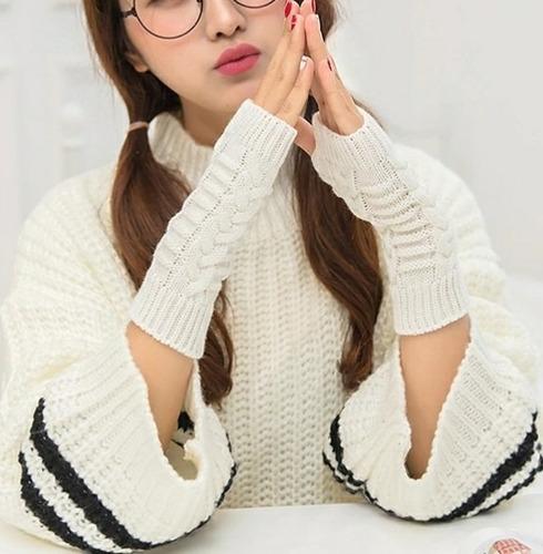 guantes  lana dedos libres unisex talla única