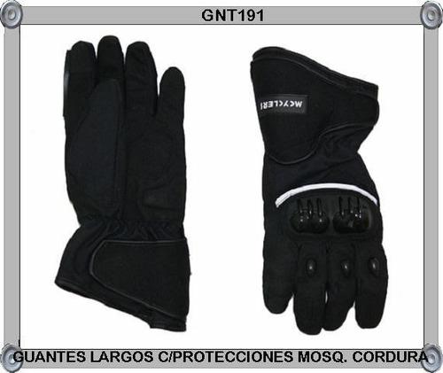 guantes largos mosq.cordura c/protecciones impermeables