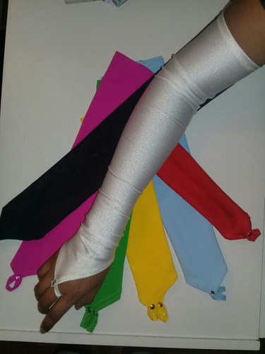 guantes largos sin dedos novias 15 años colores