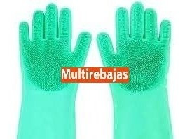 guantes lava vajilla - silicon antibacterial - impovalle