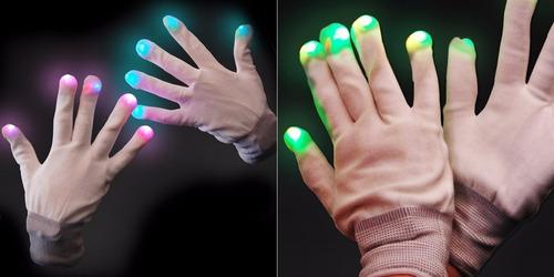 guantes led cotillón luminosos