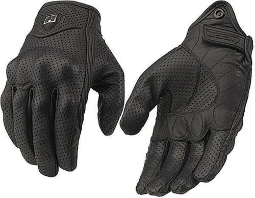 guantes liso perfo icon pursuit motociclista piel deportivo