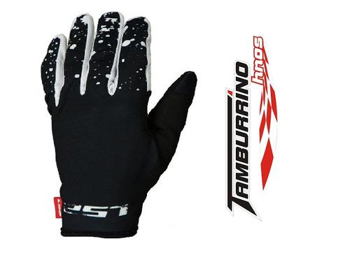 guantes ls2 mx ranger negro/blanco  - tamburrino hnos.