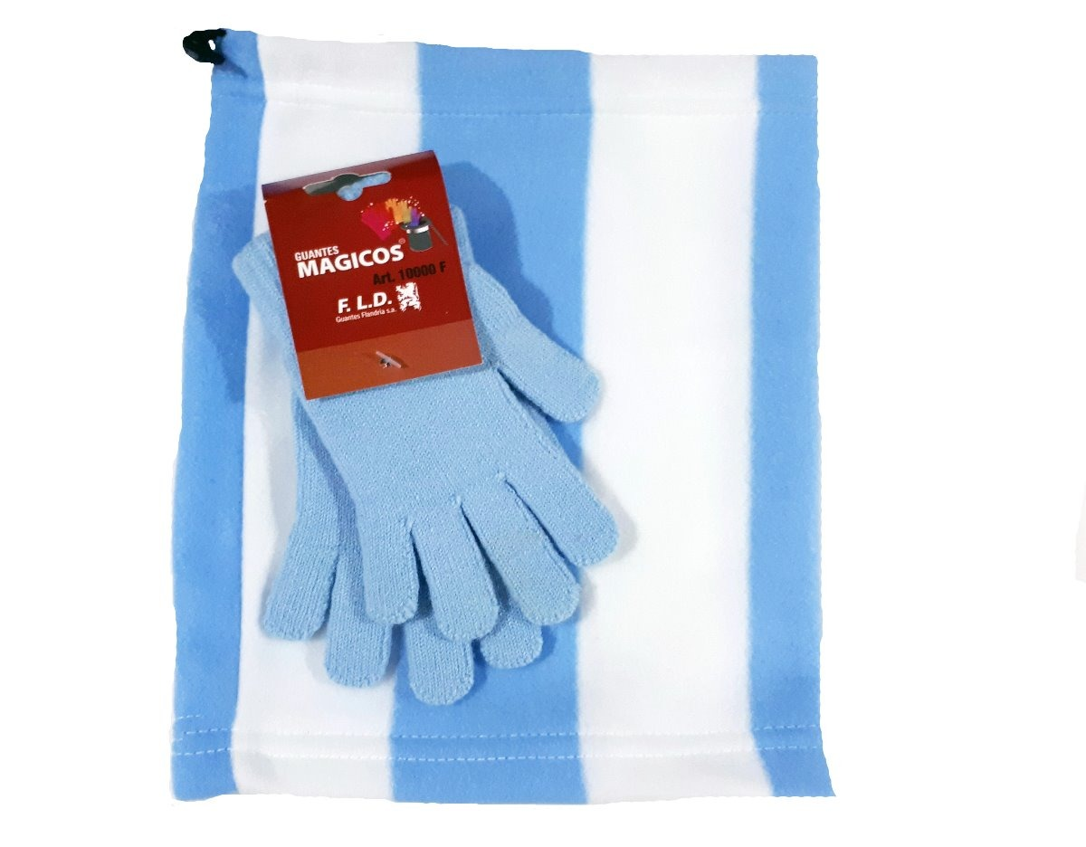 599e54a783e12 guantes magicos celeste + gorro cuello polar argentina. Cargando zoom.
