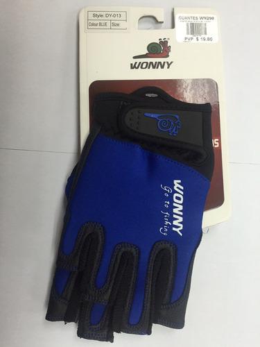 guantes marca wonny modelo dy-013 m blue fishing wn298 pesca
