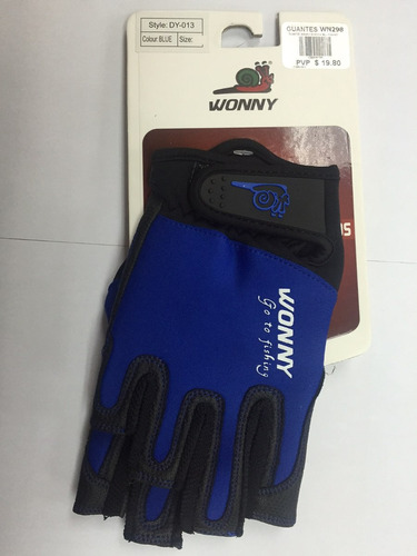 guantes marca wonny modelo dy-013 xxl blue fishing wn428 pes