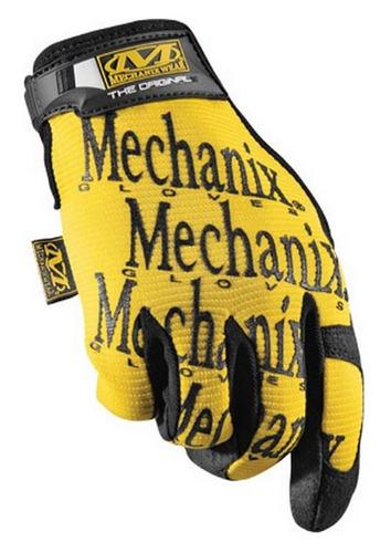 guantes mechanix wear original mechanix tela amarillo sm