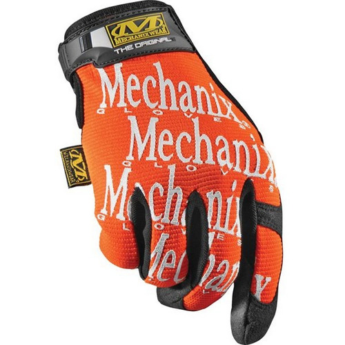 guantes mechanix wear original mechanix tela naranja sm