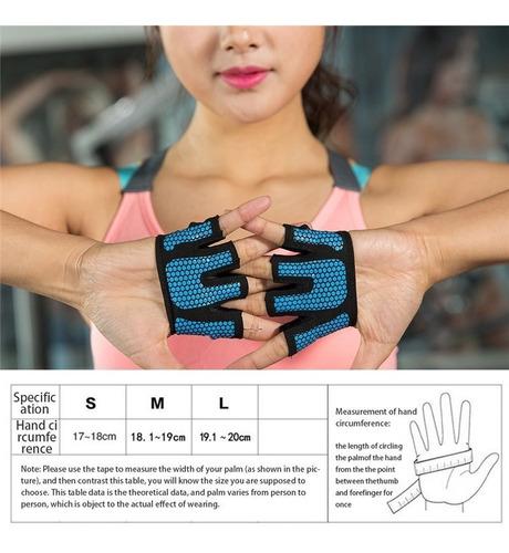 guantes medio dedo antideslizantes pa pesas fitnes gym barra