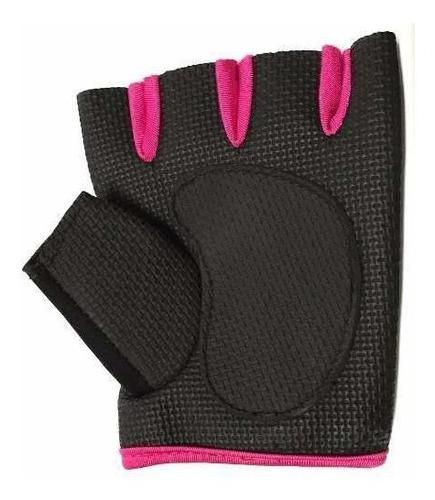 guantes medio dedo neoprene grip pesca bici rosa cuotas