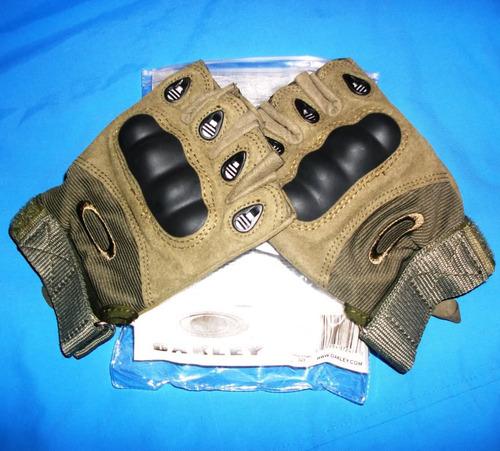 guantes mitones tactico militar policial moto gym bici oro