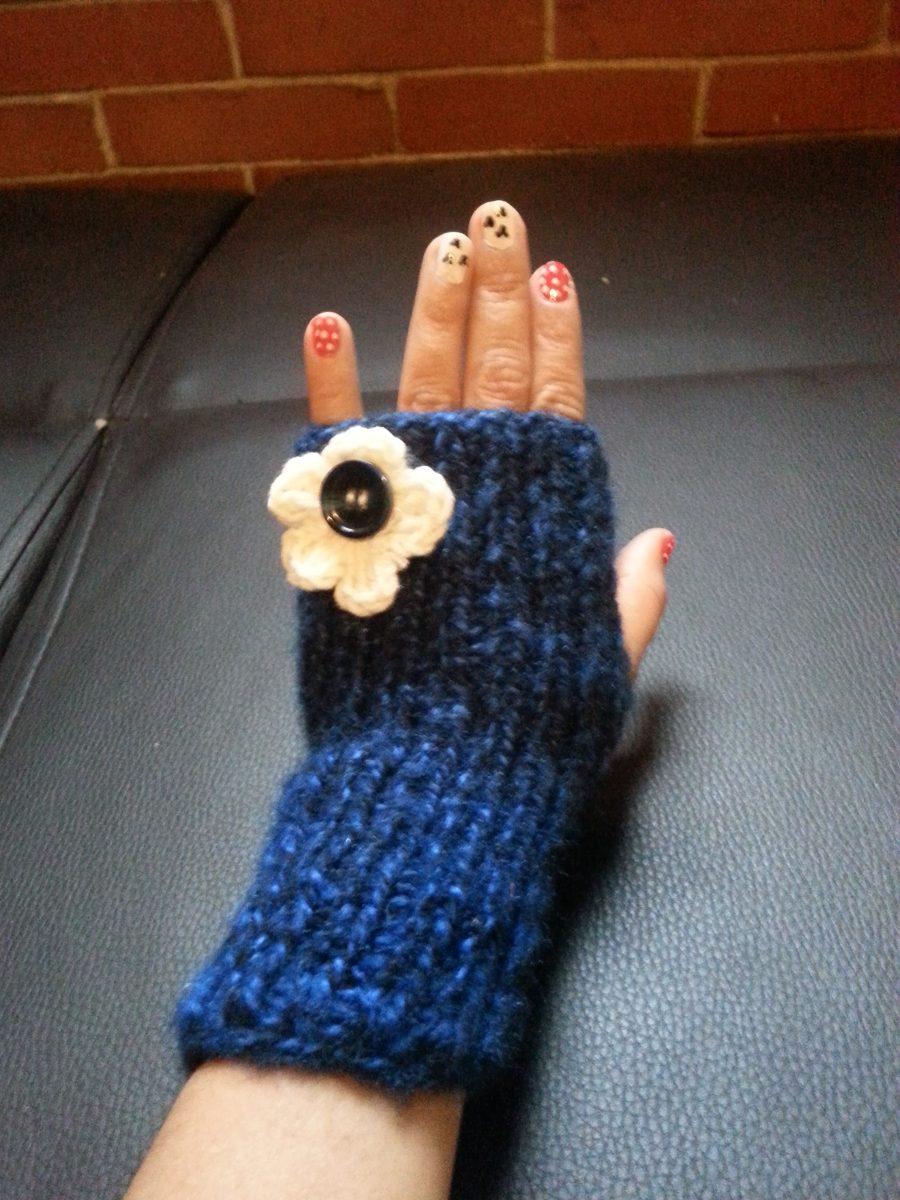 Guantes Mitones Tejidos Crochet Sin Dedos Excelentes Modelos ...