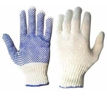 guantes moteado de algodon trabajo contruccion reforzado