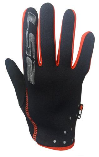 guantes moto ls2 skyfall negro rojo