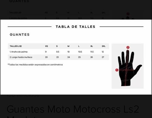 guantes moto ls2 thunder protecciones neoprene motos miguel