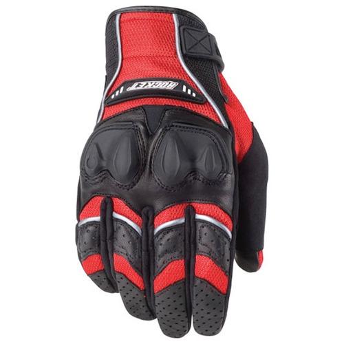 guantes moto protecciones joe rocket phoenix 4.0 rojos