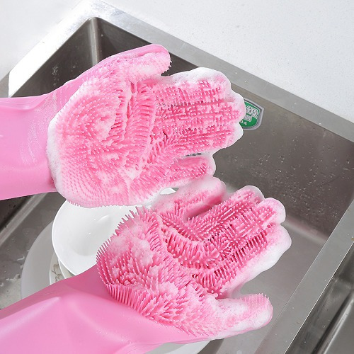 guantes multiuso silicona lava vajilla magic brush