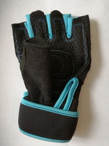 guantes munequera gym levantamiento pesas antideslizante