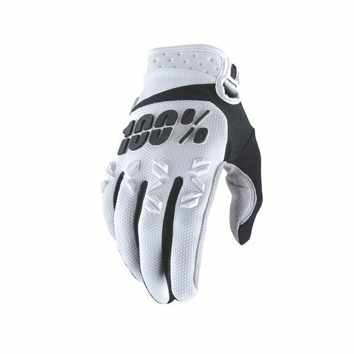guantes mx/todoterreno 100% airmatic p/hombre, bla/neg 2xl