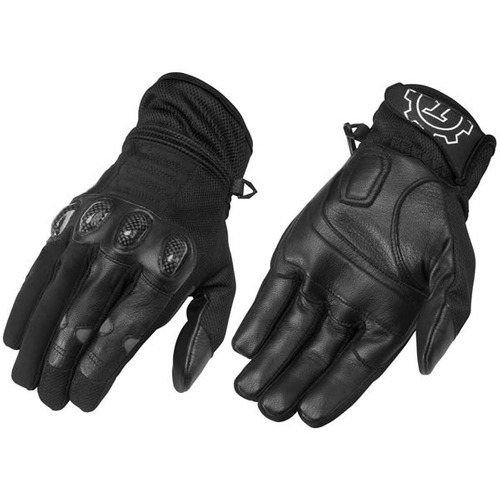 guantes negros firstgear de malla-tex, xl