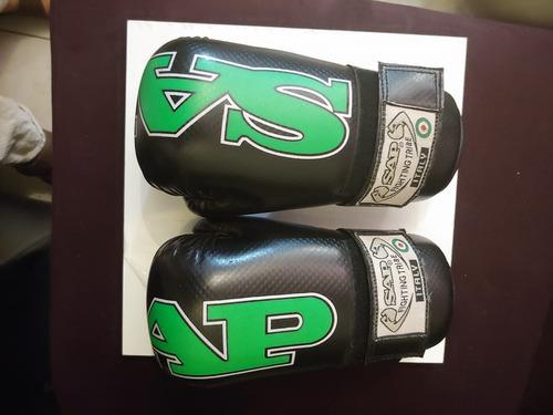 guantes negros sap talla ch abiertos karate - kickboxing cfd