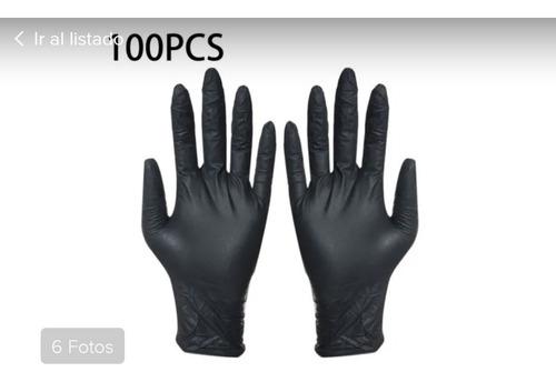 guantes negros talla s