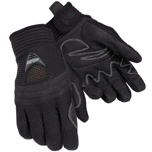 guantes negros tourmaster el flujo de aire textil, xl