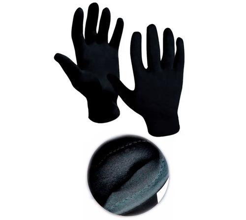 guantes neoprene termicos + guantes p. piel + mascara - sti