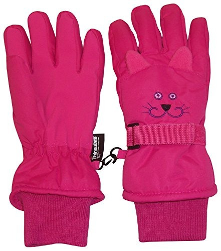 guantes n'ice caps kids cute animal faces cold weather thins