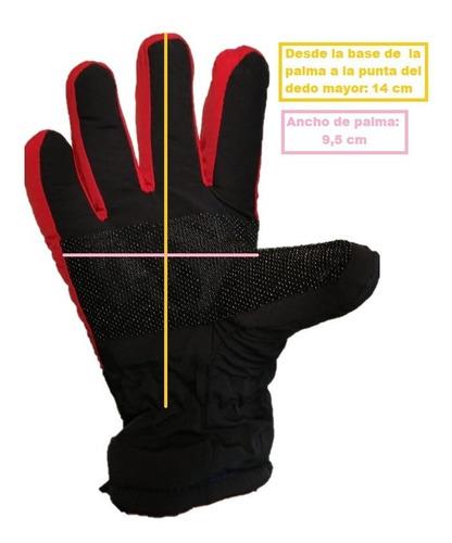 guantes nieve ski invierno niños nene colores doble capa