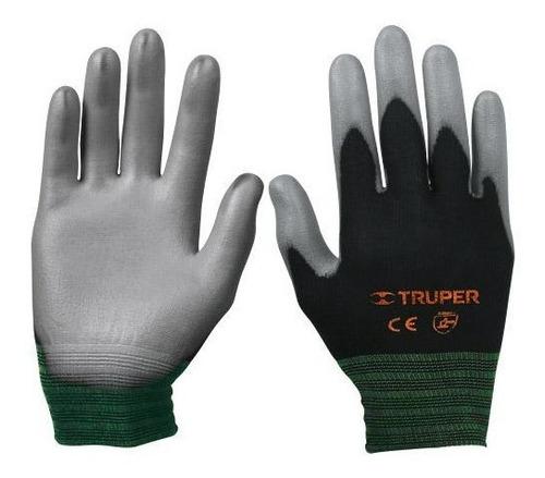 guantes nylon rec. poliuretano mediano truper 13291