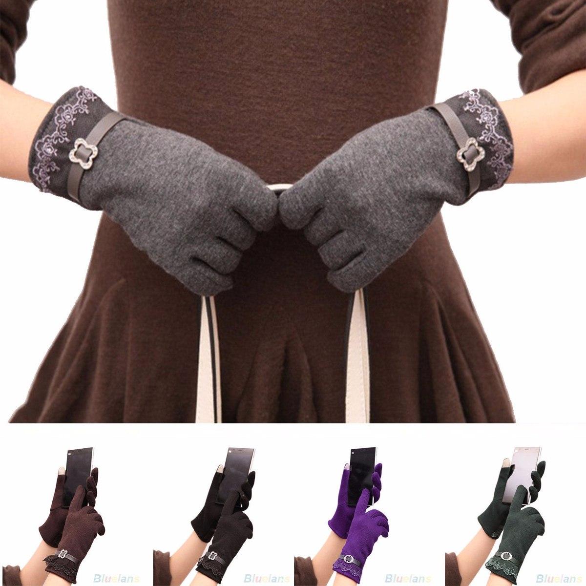 guantes para el frio elegantes forrados dama mujer táctil. Cargando zoom. 3877641218d